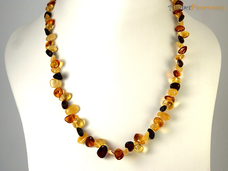 fine baltic amber necklace several colors scattered pieces 47 cm 18 inches. Black Bedroom Furniture Sets. Home Design Ideas