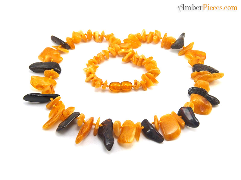 genuine baltic amber necklace semi choker butterscotch dark cherry nuggets 47 cm 18 inches. Black Bedroom Furniture Sets. Home Design Ideas
