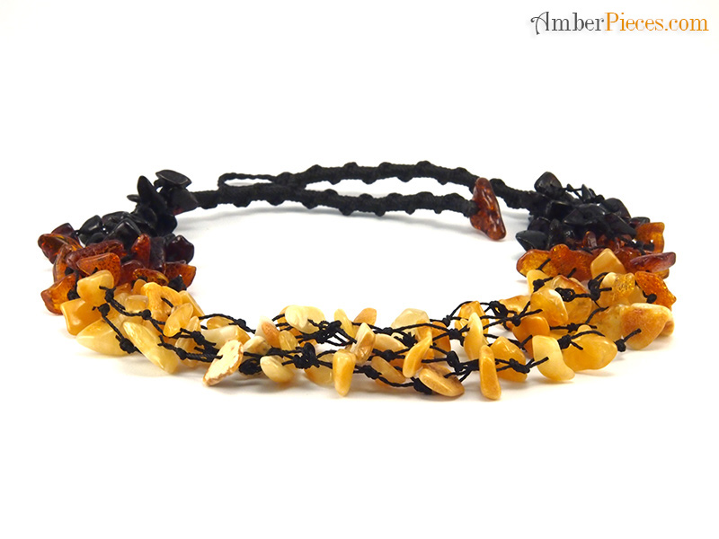 genuine baltic amber necklace mixed colors beaded 47 cm 18 inches. Black Bedroom Furniture Sets. Home Design Ideas