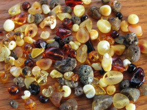 amber pieces
