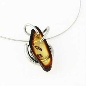 silver amber jewelry