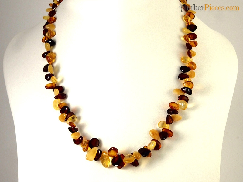 fine baltic amber necklace multi color top drilled pieces 47 cm 18 inches. Black Bedroom Furniture Sets. Home Design Ideas