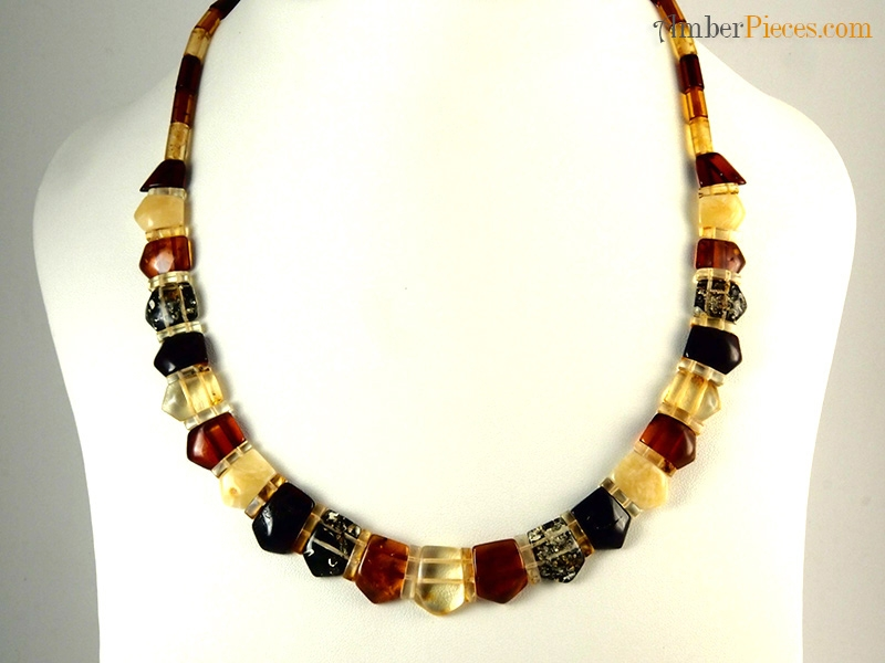 Exclusive Baltic Amber Necklace Choker Several Colors Flat