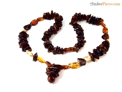 authentic baltic amber necklace cognac honey various shape beads 58 cm 23 inches. Black Bedroom Furniture Sets. Home Design Ideas