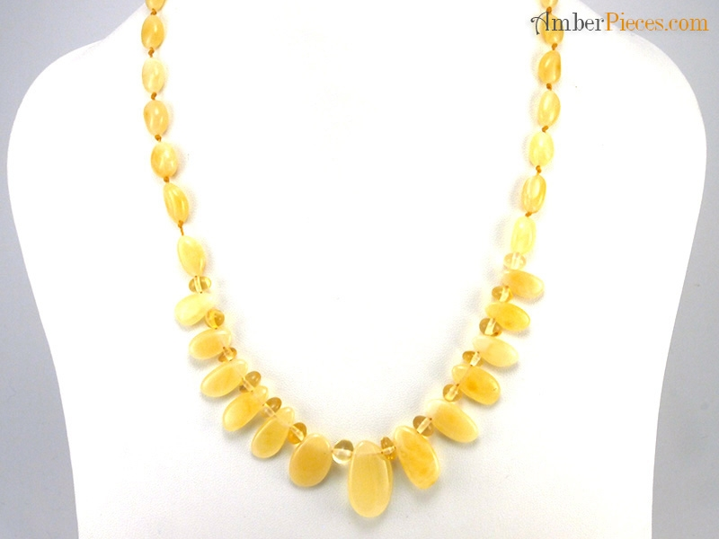 Authentic Baltic Amber Necklace Semi Choker Butter Oval