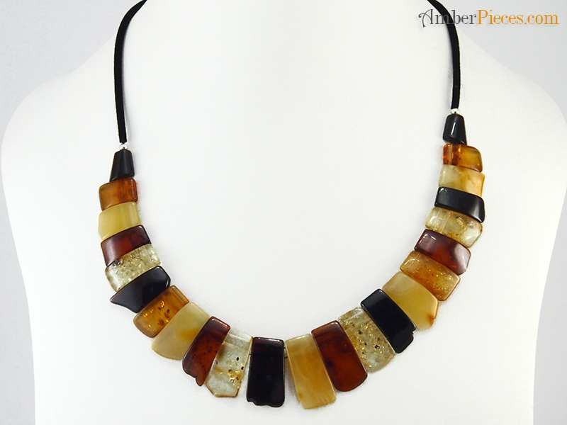 Authentic Baltic Amber Necklace Collar Multicolor