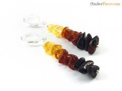 860e1dc16 Fine Baltic Amber Earrings Multi color Rai.